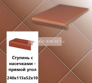Клинкерная ступень прямоугольная Euramic MULTI E 824 delta, 240х115х52х8