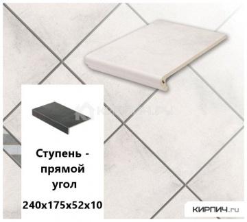 Клинкерная ступень прямоугольная Stroeher KERAPLATTE AERA 720 baccar, 240х175х52х10