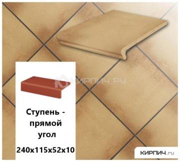 Клинкерная ступень прямоугольная Stroeher KERAPLATTE DURO 803 elba, 240х115х52х10
