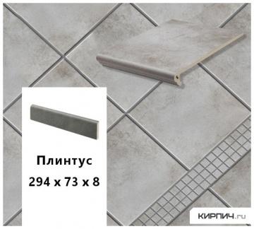 Клинкерный цоколь Stroeher KERAPLATTE AERA T 705 beton, 294х73х8