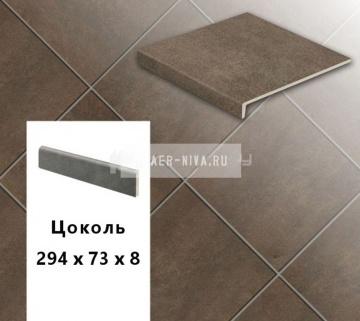 Клинкерный цоколь Stroeher KERAPLATTE ASAR 640 maro , 294х73х8