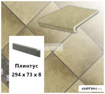 Клинкерный цоколь Stroeher KERAPLATTE ROCCIA 835 sandos, 294х73х8