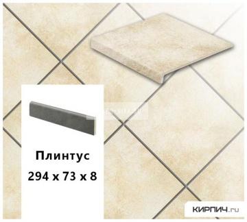 Клинкерный цоколь Stroeher KERAPLATTE ROCCIA X 920 weizenschnee, 294х73х8