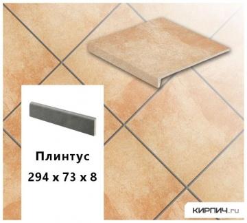 Клинкерный цоколь Stroeher KERAPLATTE ROCCIA X 927 rosenglut , 294х73х8