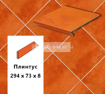 Клинкерный плинтус Euramic CADRA E 524 male, 294х73х8