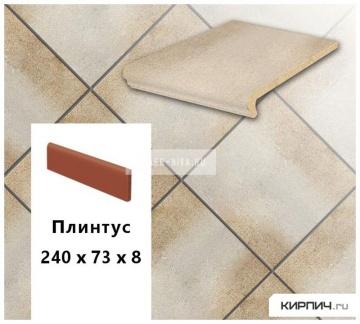 Клинкерный плинтус Stroeher KERAPLATTE DURO 850 garda , 240х73х10