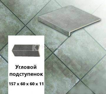 Клинкерный угловой подступенок Stroeher KERAPLATTE AERA X S710 crio, 157х60х60х11