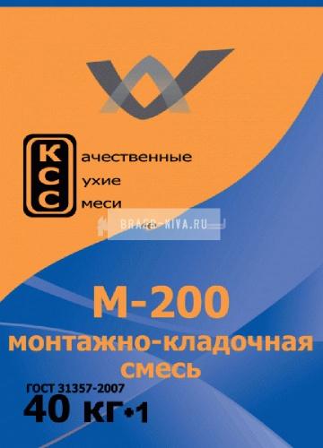Монтажно-кладочная смесь КСС М-200 ( ПМД -15 С) 40 кг