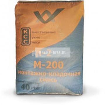 Монтажно-кладочная смесь КСС М-200 ( ПМД -5 С) 40 кг