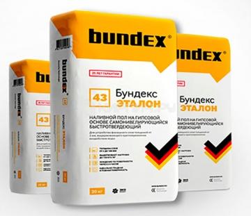 Наливной пол самоневелирующийся быстротвердеющий Бундекс Эталон Bundex, 25 кг