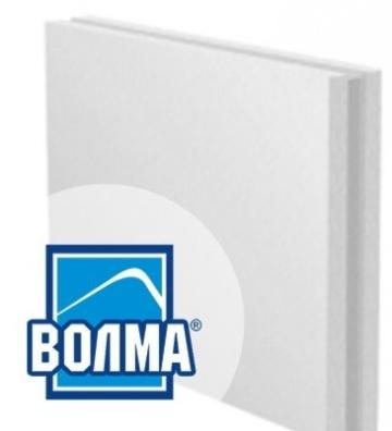 Пазогребневая гипсовая плита ВОЛМА стандартная полнотелая 667x500x80