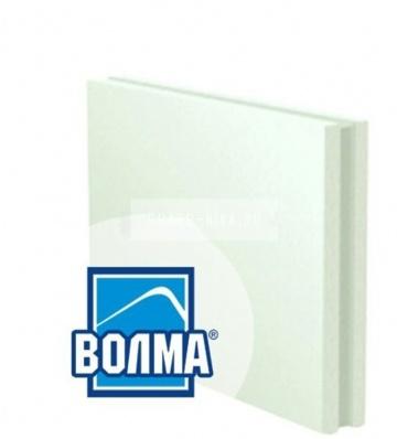 Пазогребневая гипсовая плита ВОЛМА влагостойкая полнотелая 667x500x80