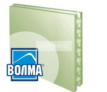 Пазогребневая гипсовая плита ВОЛМА влагостойкая пустотелая 667x500x80