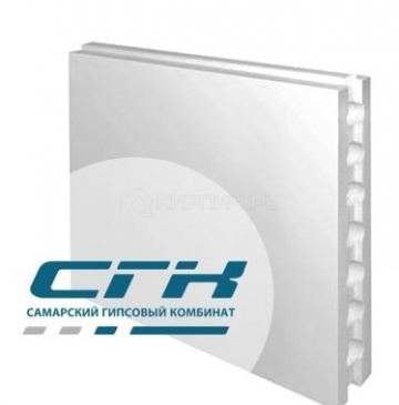 Пазогребневые гипсовые плиты стандартные полнотелые 600x300x80 СГК