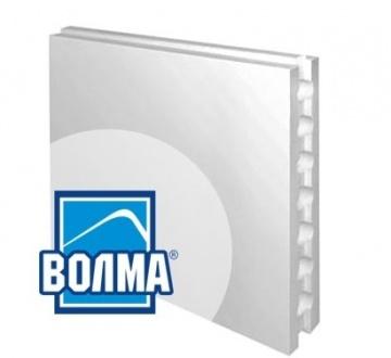 Пазогребневые гипсовые плиты ВОЛМА стандартные пустотелые 667x500x80