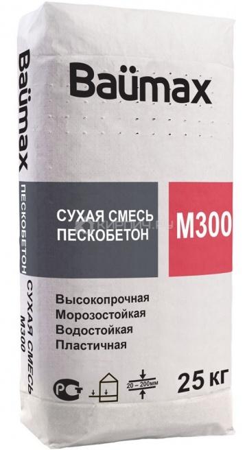 Пескобетон Baumax М-300 25 кг (ПМД -10 С)