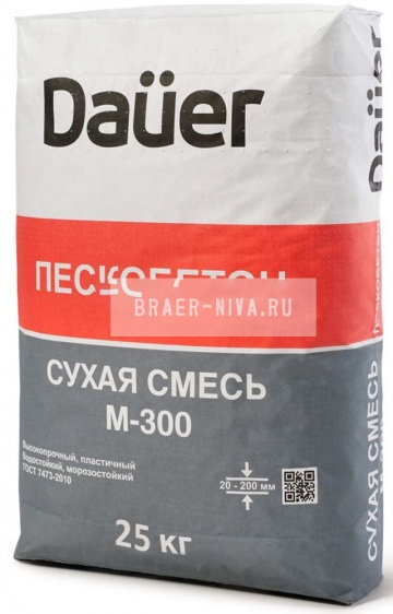Пескобетон DAUER М-300 25 кг
