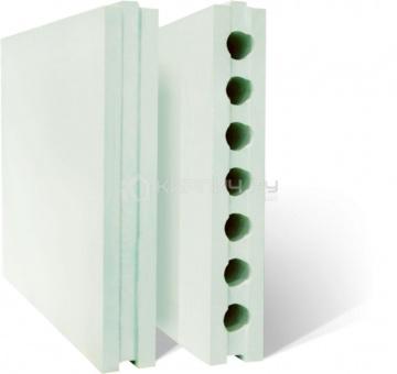 Плита гипсовая пазогребневая полнотелая стандартная 667х500х80 Пермский гипсовый завод