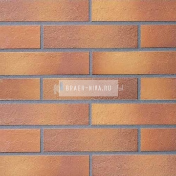 Плитка фасадная клинкерная Stroeher KERAVETTE CHROMATIC и FLAME 307 weizengelb гладкая неглазурованная DF8, 240x52x8