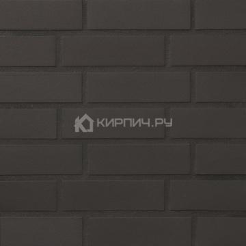 Плитка фасадная клинкерная Stroeher KERAVETTE CHROMATIC и FLAME 330 DF8 ngraphit гладкая неглазурованная, 240x52x8