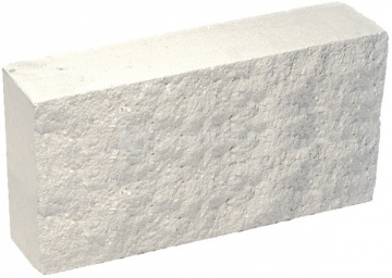 Плитка гиперпрессованная для цоколя белая рустированная 250х120х30