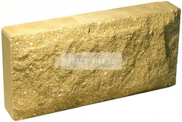 Плитка гиперпрессованная для цоколя желтая рустированная 250х120х30