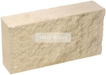 Плитка гиперпрессованная для цоколя слоновая кость рустированная 250х120х30