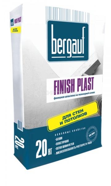 Шпатлёвка финишная полимерная Bergauf Finish Plast 20 кг