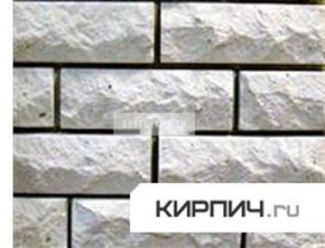 Силикатный кирпич белый одинарный рустированный угол КЗСК
