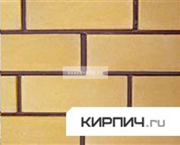Силикатный кирпич желтый одинарный КЗСК