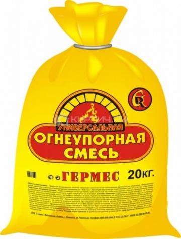 Смесь шамотная Мертель МШ-28 (алюмосиликатный порошок) 20 кг Гермес