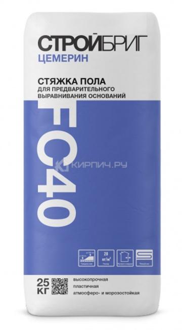 Стяжка пола высокопрочная Стройбриг Цемерин FC 40 25 кг