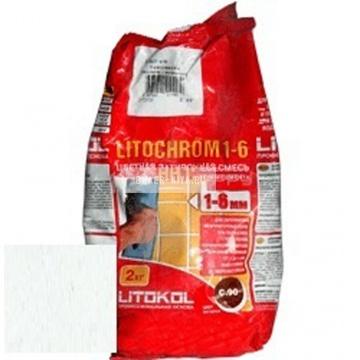 Затирка цементная Litokol Litochrom 1-6 C.100 светло-зеленая/мята 2 кг