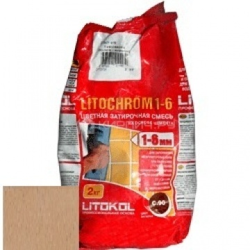 Затирка цементная Litokol Litochrom 1-6 C.140 светло-коричневая 2 кг