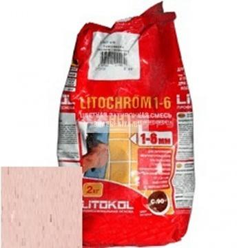 Затирка цементная Litokol Litochrom 1-6 C.180 розовый фламинго 2 кг