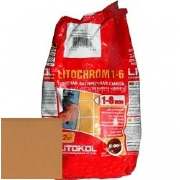 Затирка цементная Litokol Litochrom 1-6 C.210 персик 2 кг