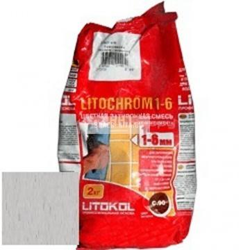 Затирка цементная Litokol Litochrom 1-6 C.30 жемчужно-серая 2 кг
