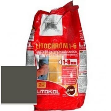 Затирка цементная Litokol Litochrom 1-6 C.470 черная 2 кг