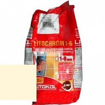 Затирка цементная Litokol Litochrom 1-6 C.480 ваниль 2 кг