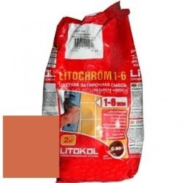 Затирка цементная Litokol Litochrom 1-6 C.490 коралл 2 кг