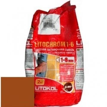 Затирка цементная Litokol Litochrom 1-6 C.500 красный кирпич 2 кг