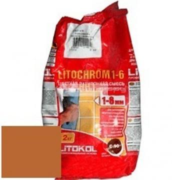 Затирка цементная Litokol Litochrom 1-6 C.510 охра 2 кг