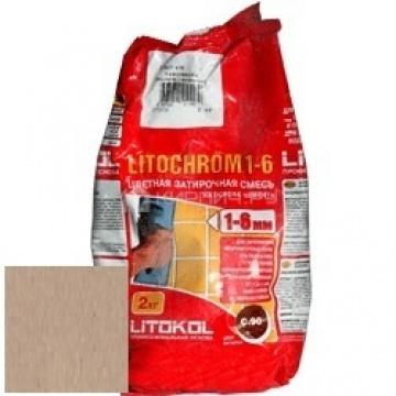 Затирка цементная Litokol Litochrom 1-6 C.80 коричневая/карамель 2 кг