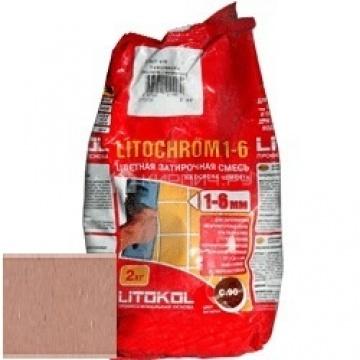 Затирка цементная Litokol Litochrom 1-6 C.90 красно-коричневая/терракотовая 2 кг