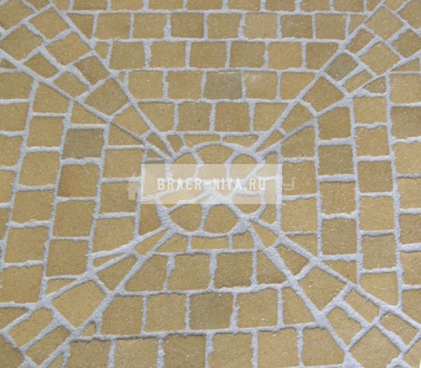 Тротуарная клинкерная брусчатка Feldhaus Klinker M203 Areno trigo 240х118х52